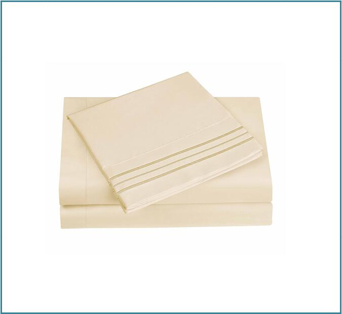 Embroidery sheets beige