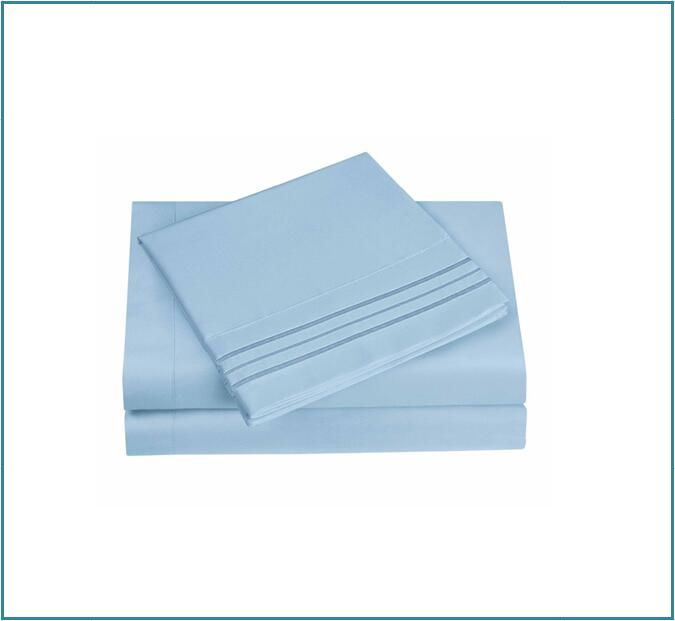 Embroidery sheets light blue