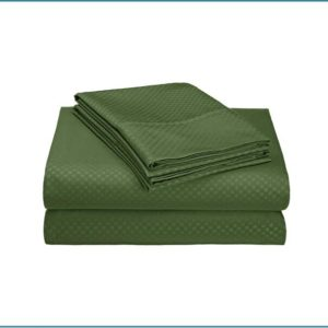 Dots Embossed Sheets set-Forest Green