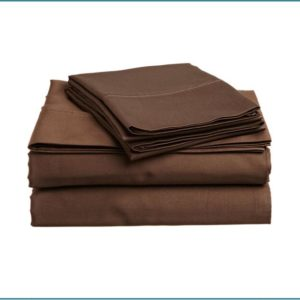 Solid Color Microfiber Bed Sheets Brown