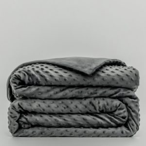 Calming Weighted Blanket-Embossed Minkly-Gray