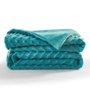 Calming Weighted Blanket-Embossed Minkly-Turquoise