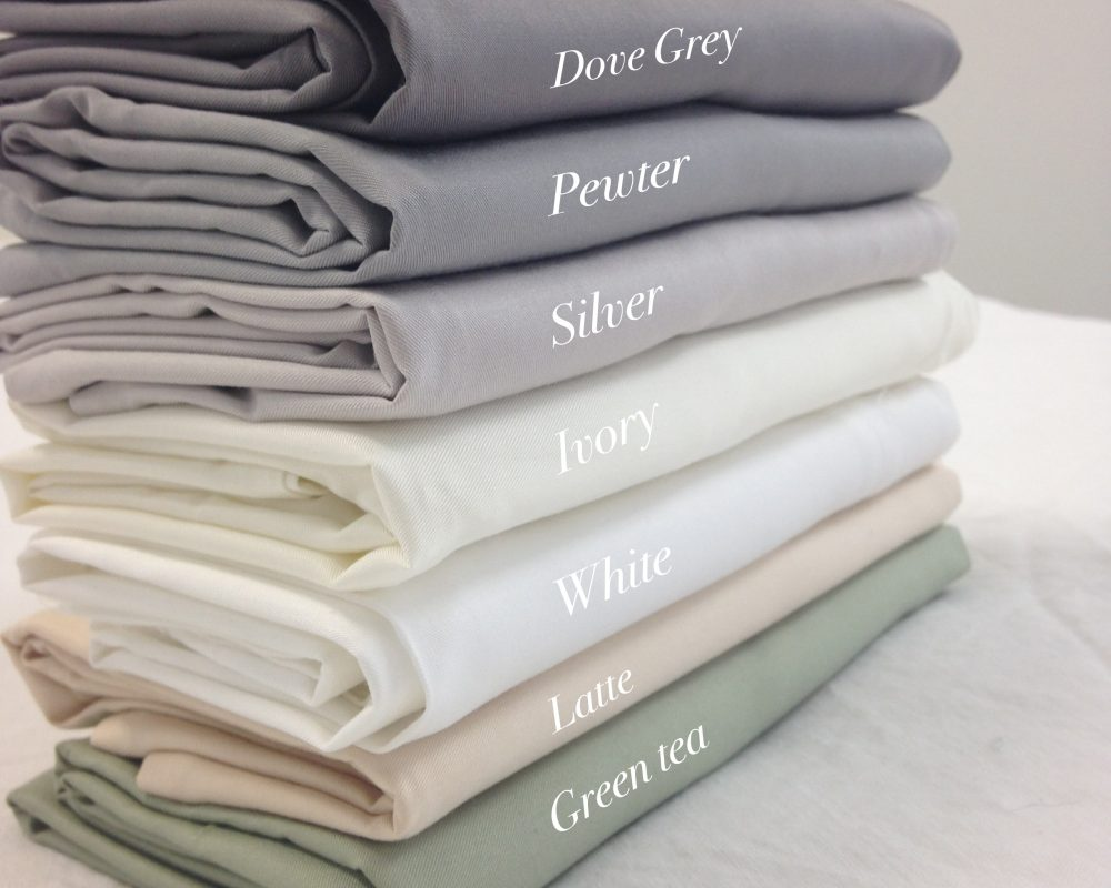 Fitted sheet, ivory, white